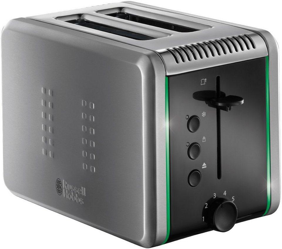 Russell Hobbs Toaster »Illumina 20170-56«, für 2 Scheiben, 1200 Watt, schwarz/grau in gebürsteter Edelstahl