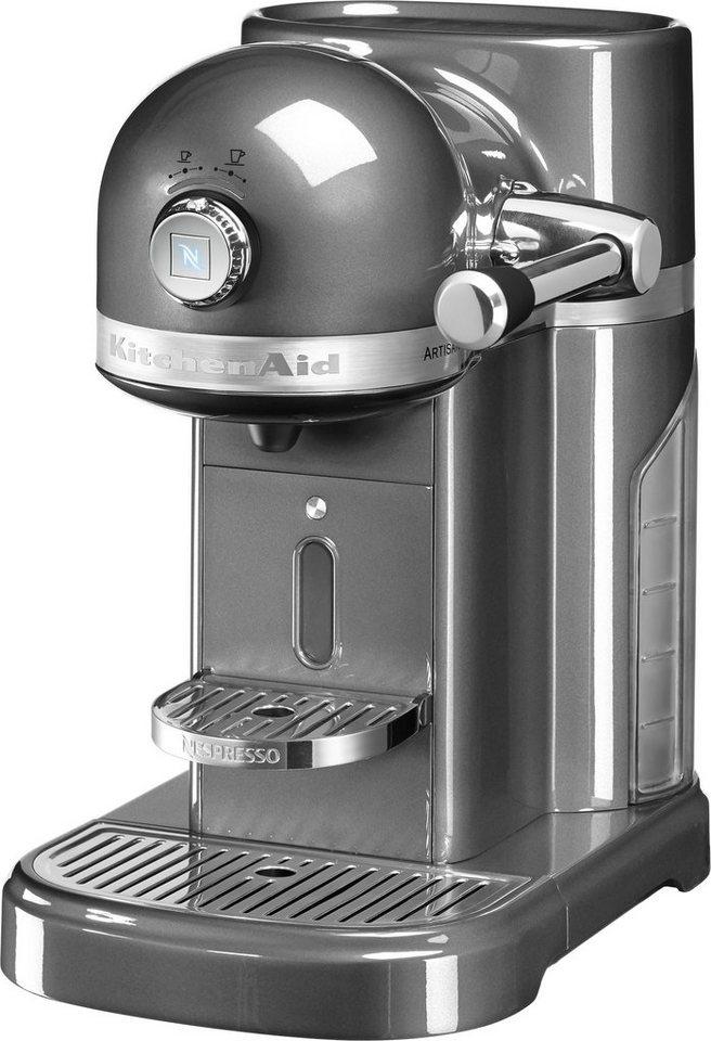 Kitchenaid Nespresso 5KES0503EMS medallion silber, 19 Bar in medallion silber