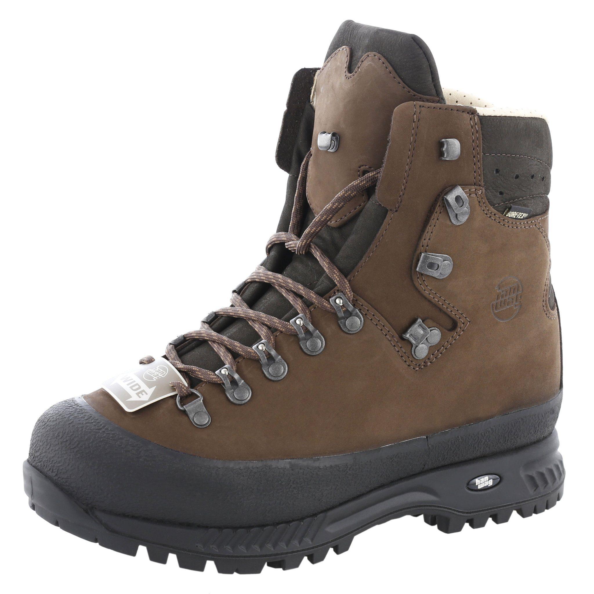 Hanwag Kletterschuh Alaska Wide GTX Shoes Men  braun