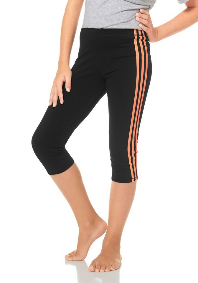 adidas Performance 3/4-Tights in Schwarz-Apricot