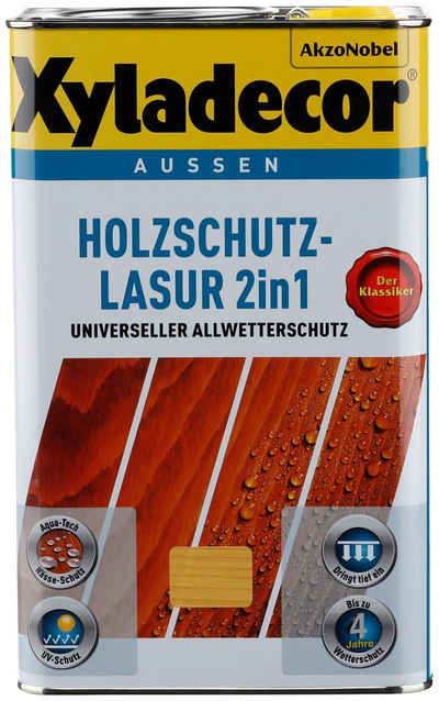 Xyladecor Holzschutzlasur »2in1«, 2,5 Liter, transparent