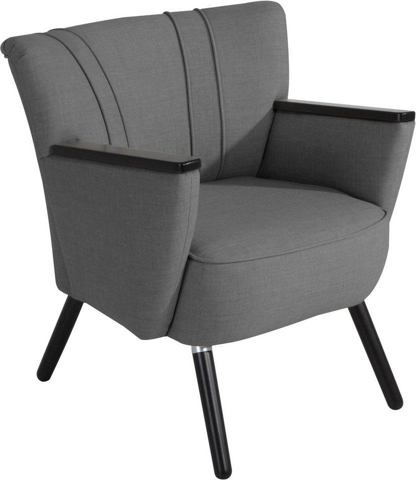 max winzer stuhlsessel lia mit holzapplikationen an den armlehnen online kaufen otto. Black Bedroom Furniture Sets. Home Design Ideas