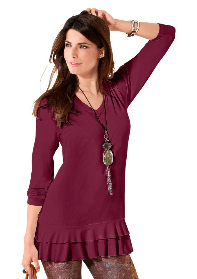 Classic Basics Longshirt | Bekleidung > Shirts > Longshirts | Rot | Classic Basics