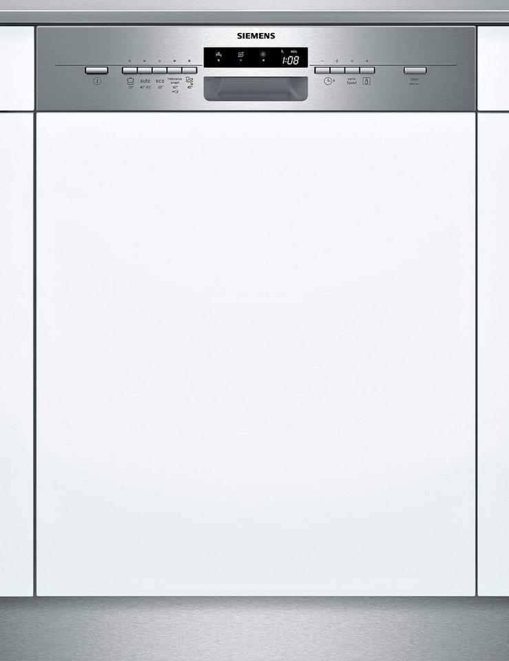 Siemens integrierbarer Einbaugeschirrspüler SX55L581EU, A++, 10 Liter, 13 Maßgedecke in silberfarben