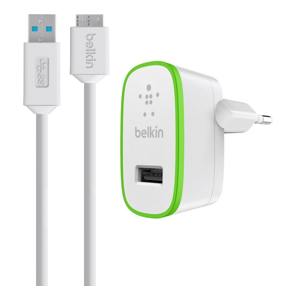 BELKIN Ladegerät & Netzteil »WALL CHARGER MICRO-USB 2 1A - F8M667VF04-WHT«
