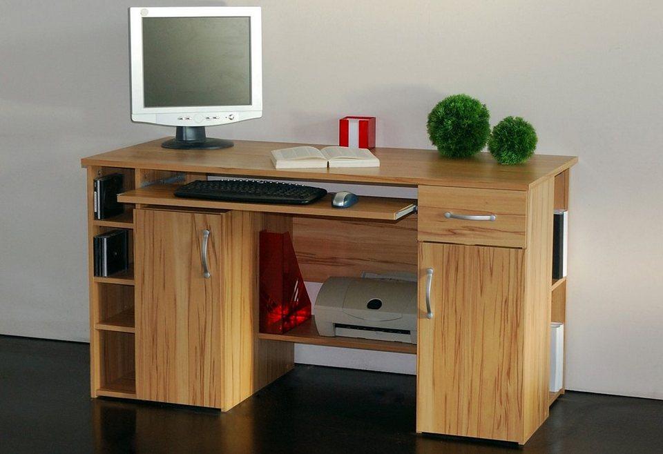 schreibtisch tim mit 5 f chern und tastaturauszug online kaufen otto. Black Bedroom Furniture Sets. Home Design Ideas