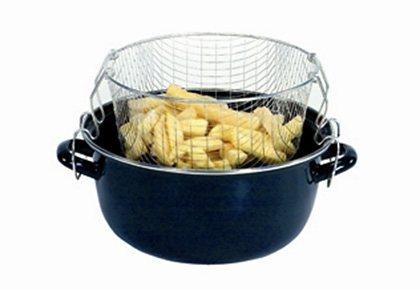 Pommes Frites Topf, Krüger in schwarz