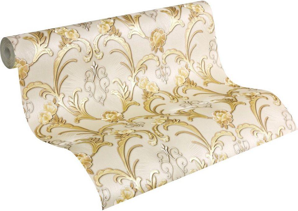 Vliestapete, Livingwalls, »Mustertapete Hermitage« in gold/silber