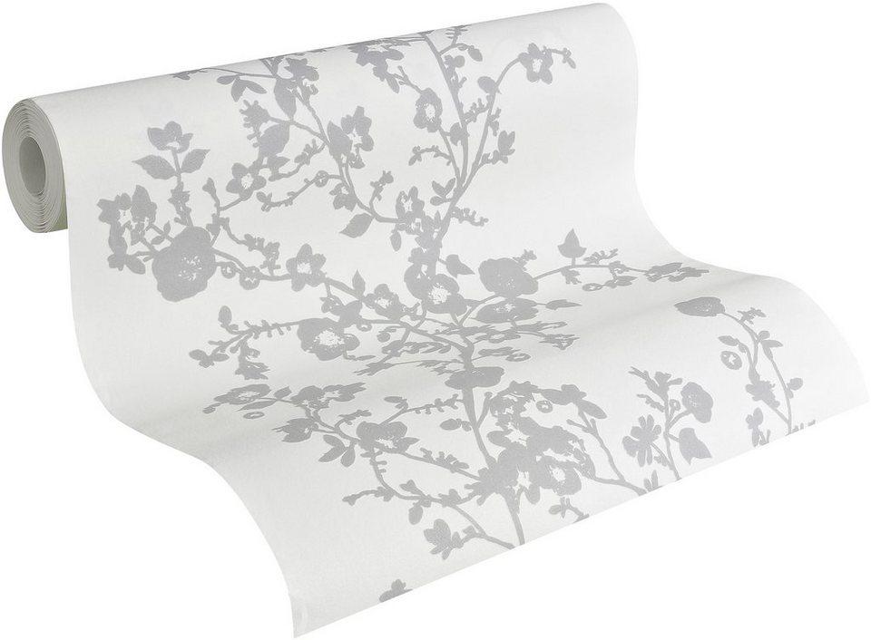Vliestapete, Naf Naf, »Mustertapete Sweet Flowers« in weiß-grau