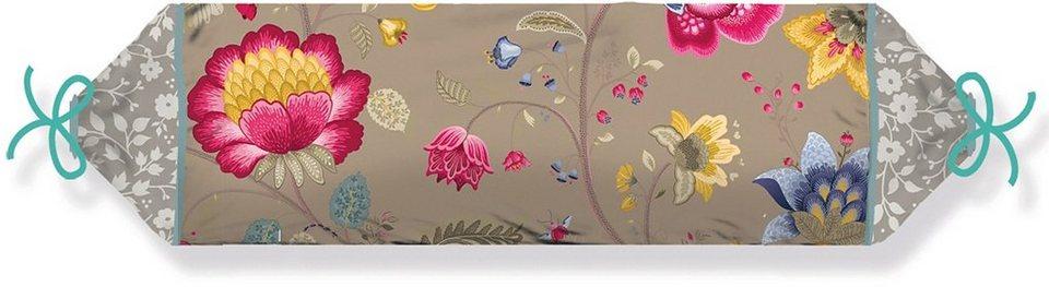 Nackenrolle, PiP Studio, »Floral Fantasy«, mit Blumen verziert in khaki
