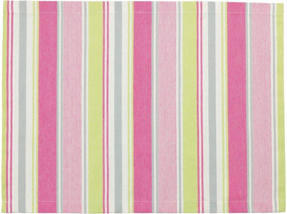 Tischset, Esprit, »Coloured« (2er Pack) in pink/lime