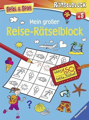 Broschiertes Buch »Mein großer Reise-Rätselblock«