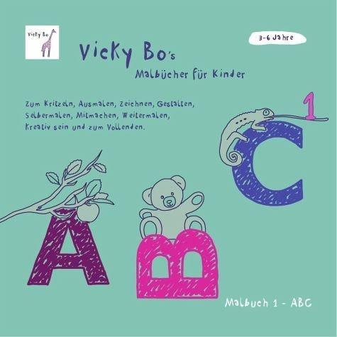 Broschiertes Buch »Malbuch ABC. Ab 3 bis 6 Jahre«