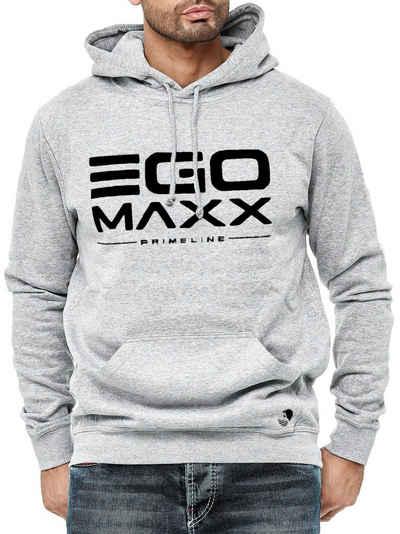 Egomaxx Hoodie »3042« Herren Basic Kapuzenpullover Sweat Shirt EGO Design Print Hoodie