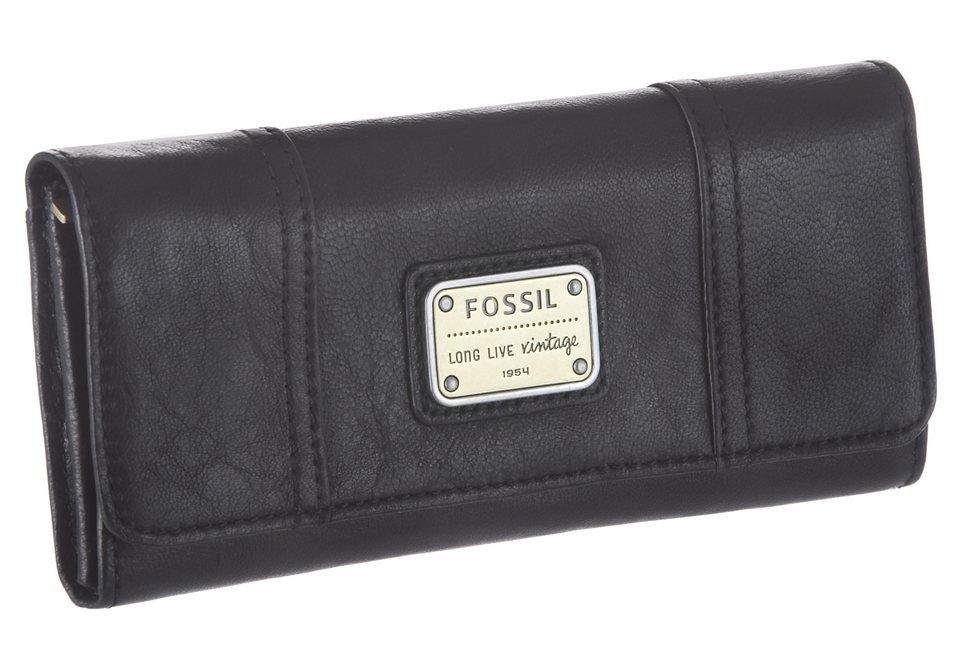Fossil Geldbörse mit Smartphone Fach in schwarz