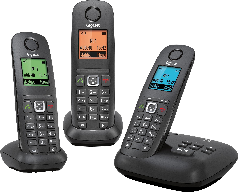 Gigaset A540 A TRIO Schnurloses DECT Telefon-Set mit AB