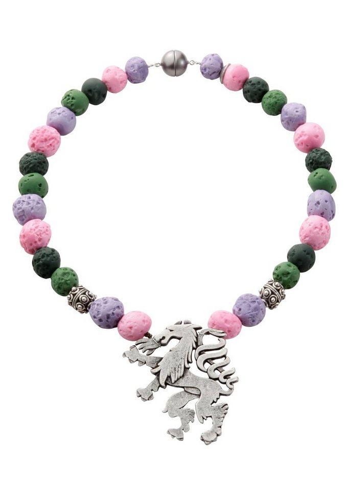 Trachtenkette, K&K Kunstduo in gruen/lila/pink