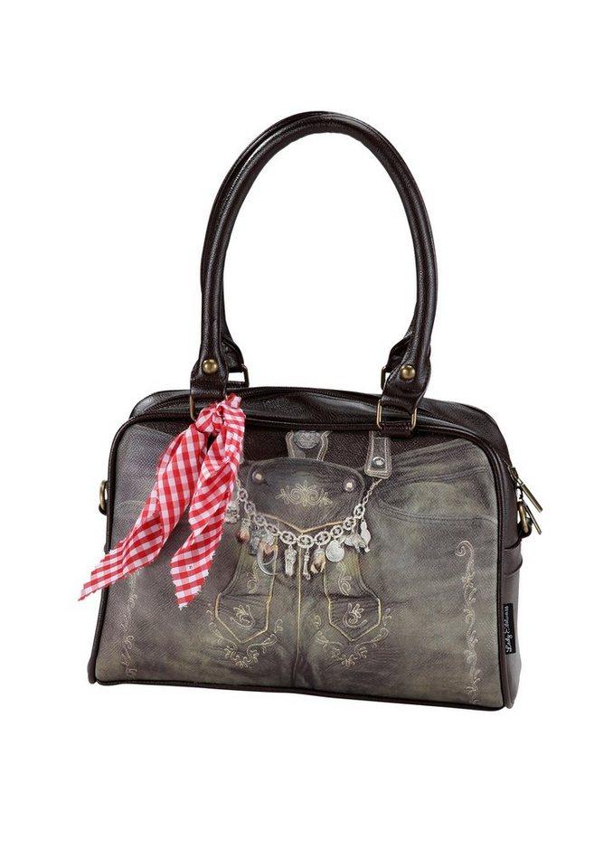 Trachtentasche, Lady Edelweiss in braun