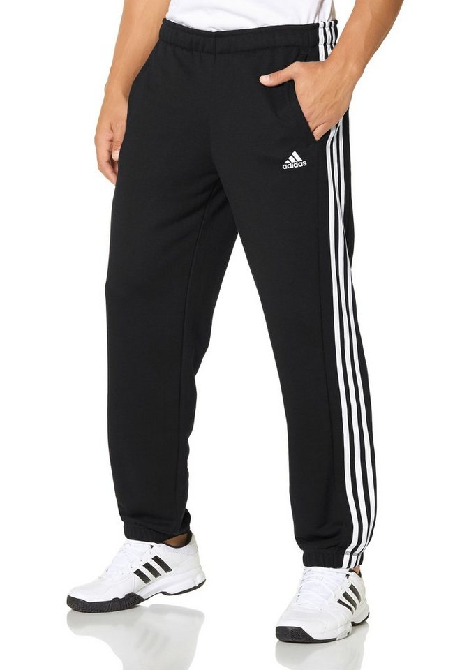 adidas Performance ESSENTIALS 3S PANT CH FRENCH TERRY Jogginghose in Schwarz-Weiß