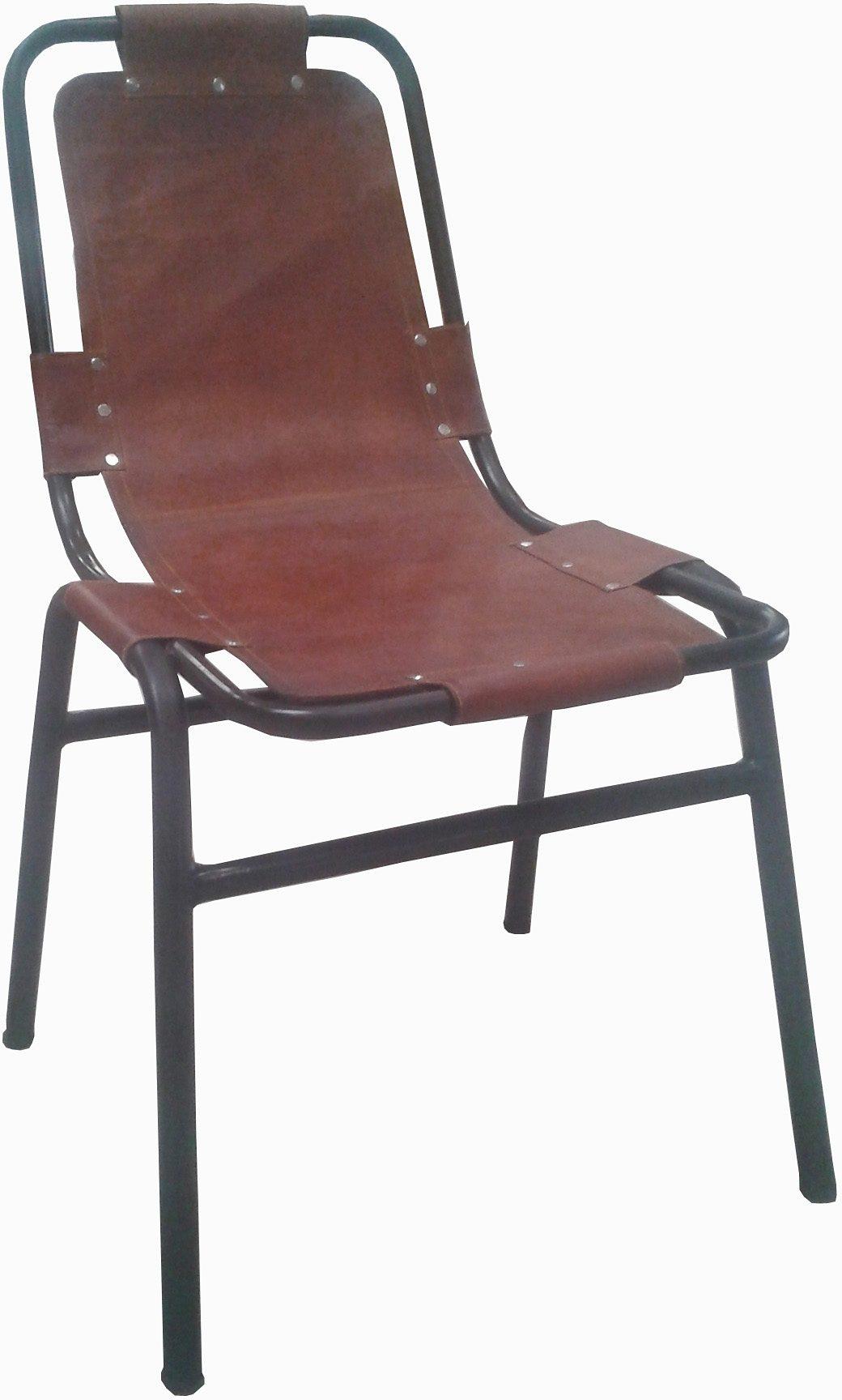 Stuhl, Home affaire, »Iron« aus Metall und Leder, im 2er-Set