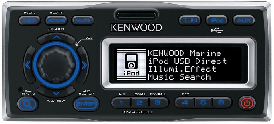 Kenwood 1,5-DIN Marine Receiver »KMR-700U«