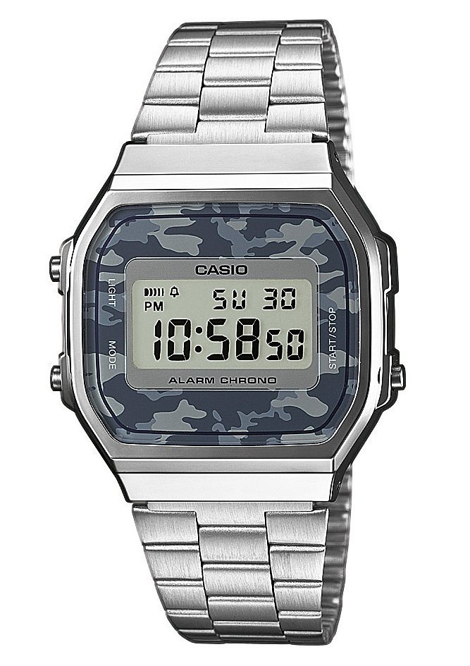 Casio Collection Chronograph »A168WEC-1EF« in silberfarben
