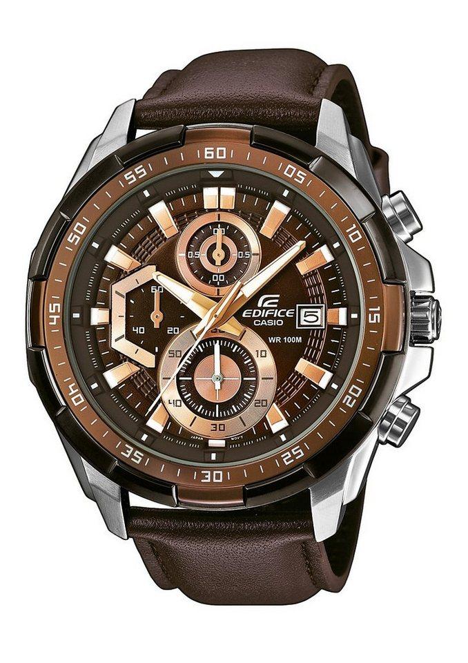 Casio Edifice Chronograph »EFR-539L-5AVUEF« in braun