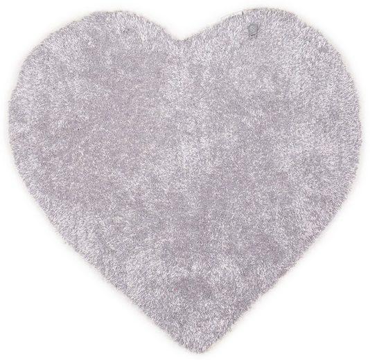 Kinderteppich »Soft Herz«, TOM TAILOR, herzförmig, Höhe 35 mm, Hochflor