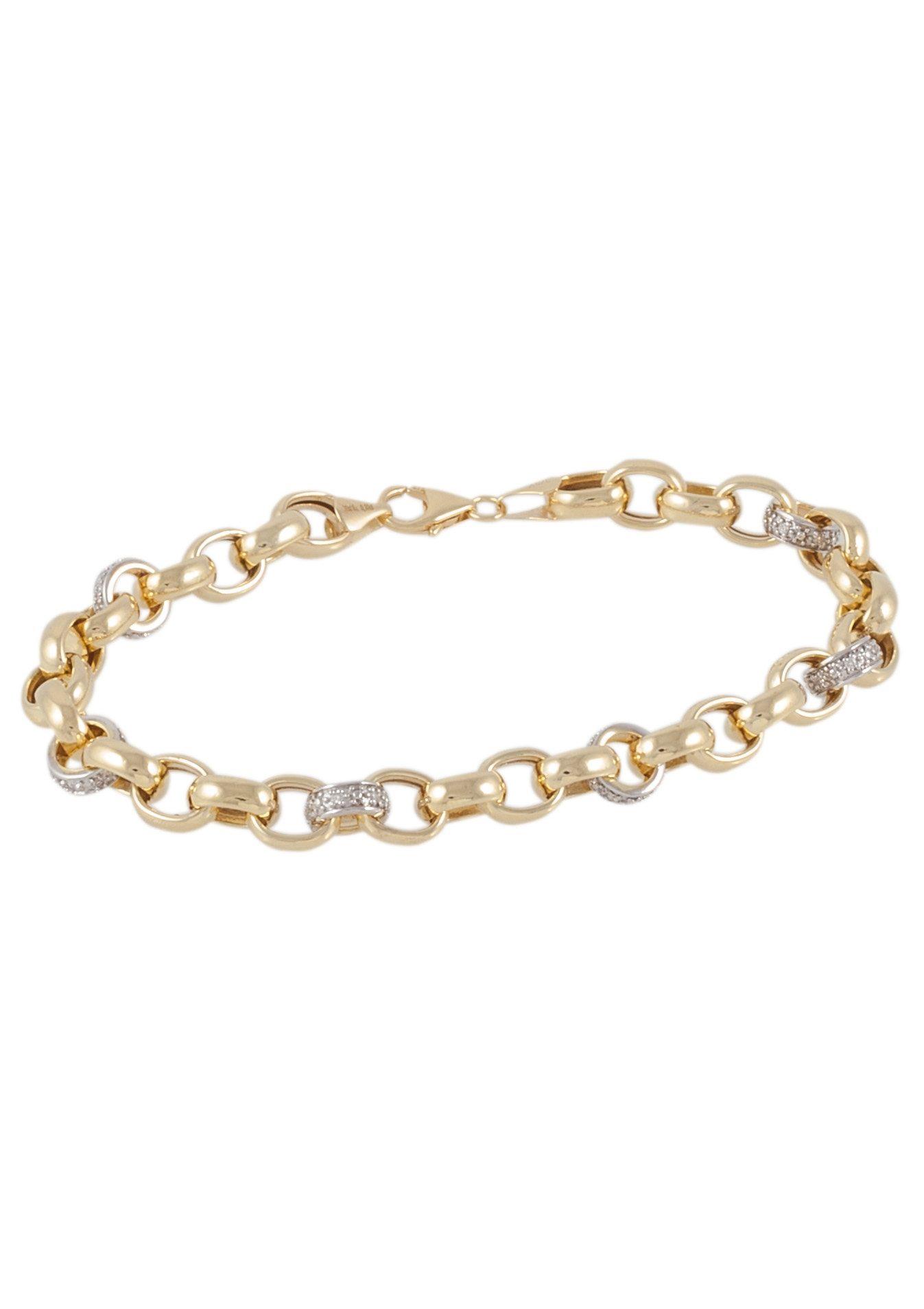 Vivance Jewels Armschmuck: Armband in Erbskettengliederung mit Diamanten