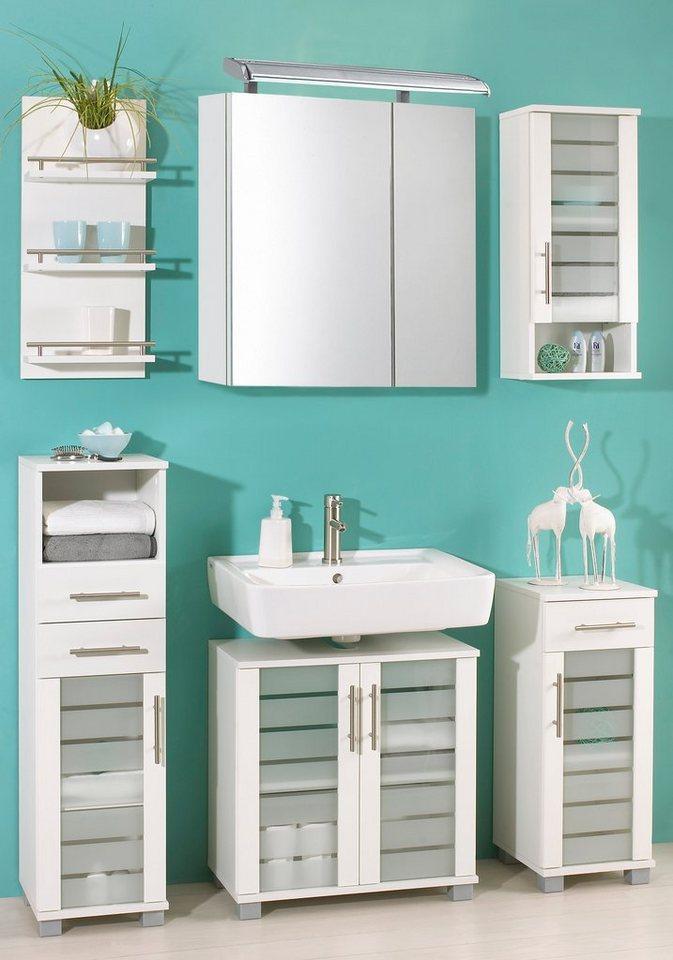 badm bel set schildmeyer nikosia 4 tlg mit glasfronten online kaufen otto. Black Bedroom Furniture Sets. Home Design Ideas