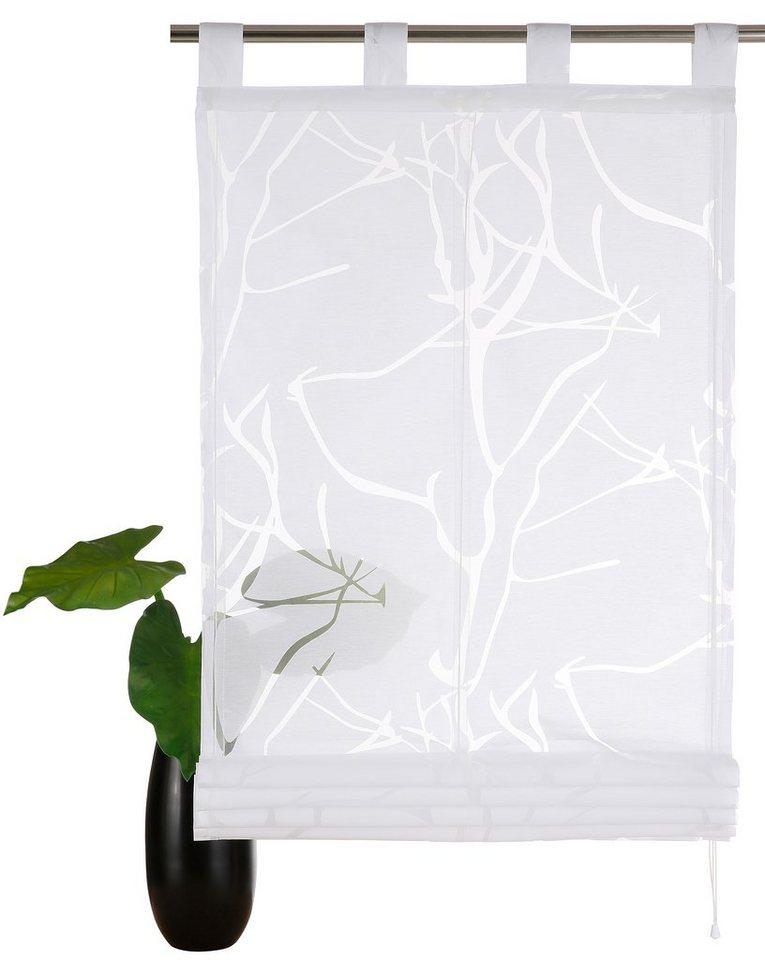 Raffrollo,my home, »Pattani«, mit Schlaufen (1 Stück) in weiß