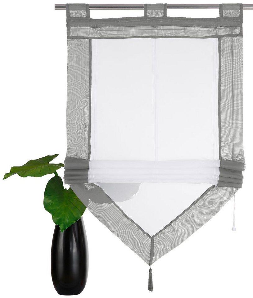 raffrollo mit schlaufen 120 cm breit beautiful fazit so finden sie ihr neues raffrollo with. Black Bedroom Furniture Sets. Home Design Ideas