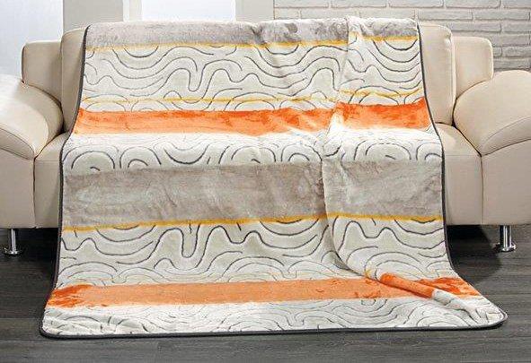 Wohndecke, Gözze, »Borneo«, zarte Farbkombinationen in orange