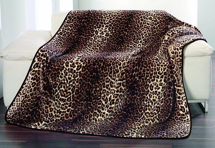 Wohndecke, »Schneeleopard«, Gözze,, mit Leopardenmuster und aus Kunstfell