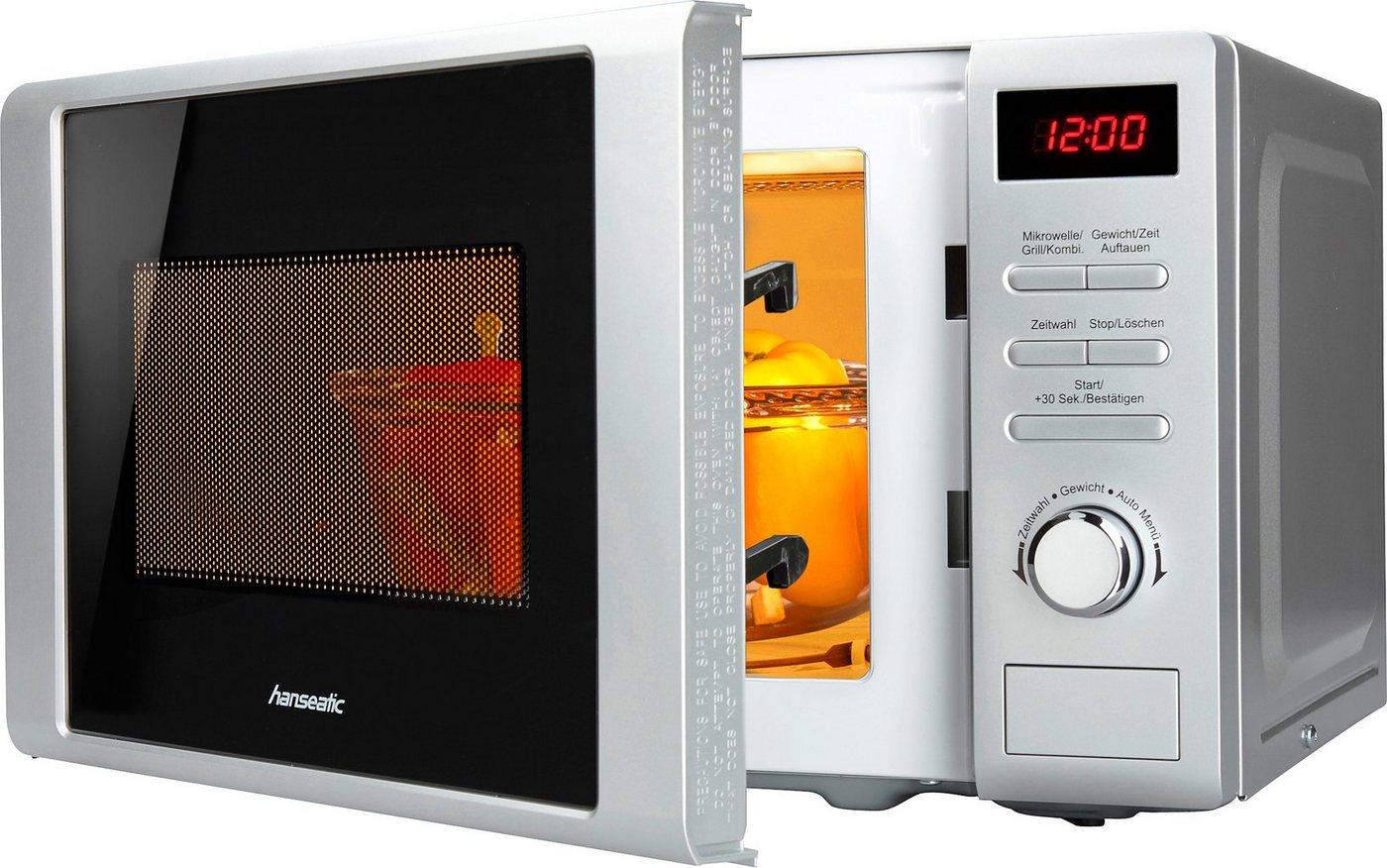 *hanseatic Mikrowelle, mit Grill, 20 Liter Garraum, 700 Watt*