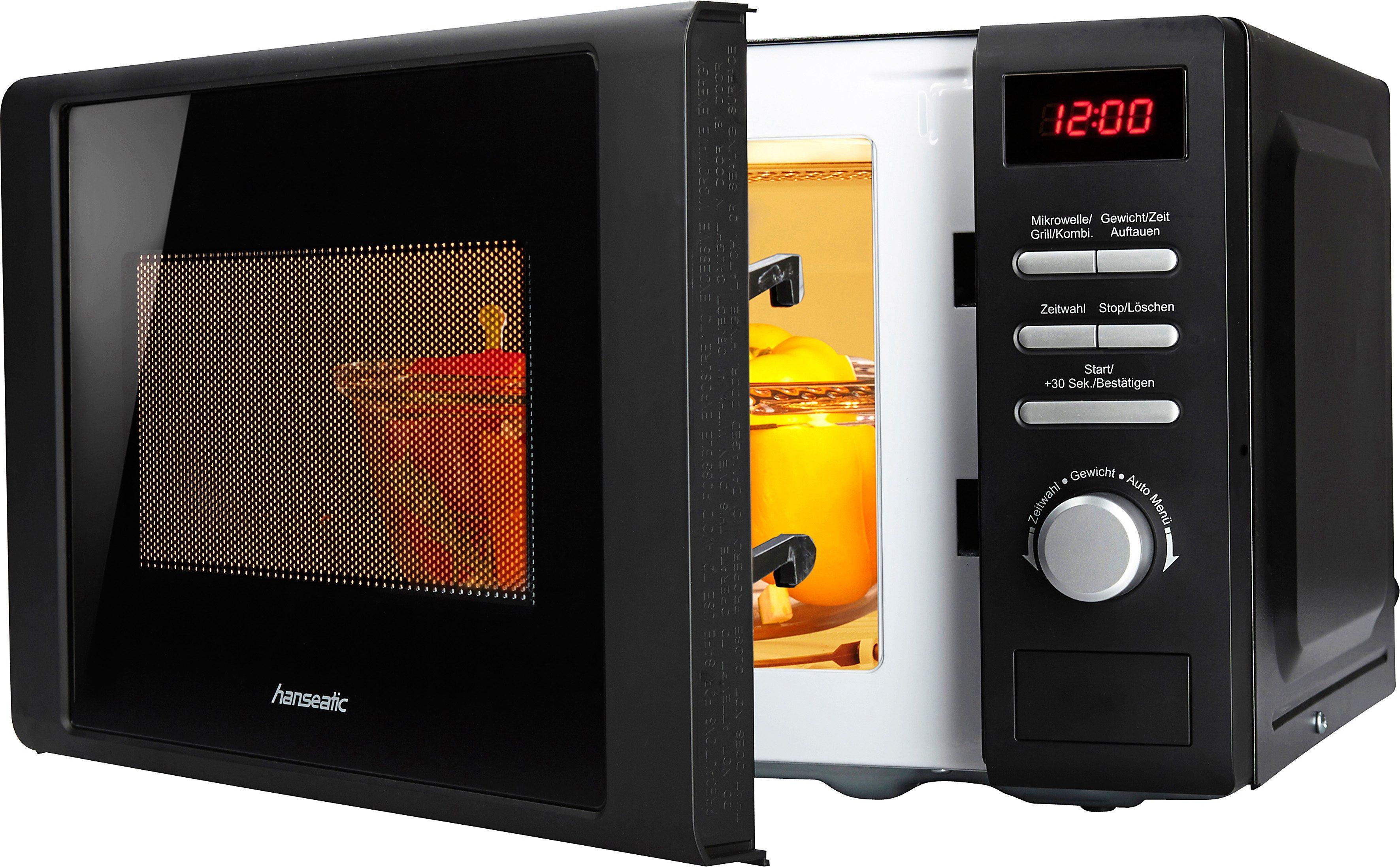 hanseatic Mikrowelle, mit Grill, 5 Leistungsstufen, 20 Liter Garraum, 700 Watt