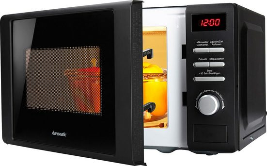 Hanseatic Mikrowelle 819021, Grill, 20 l, schwarz