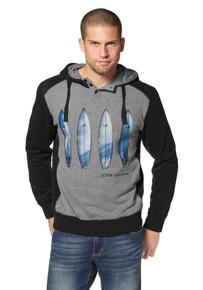 Ocean Sportswear Kapuzensweatshirt in Schwarz-Grau