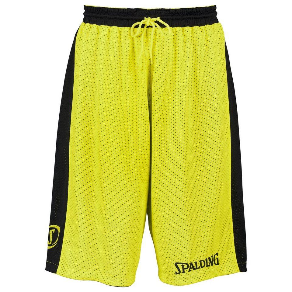 SPALDING Essential Reversible Shorts Kinder in schwarz/neongelb