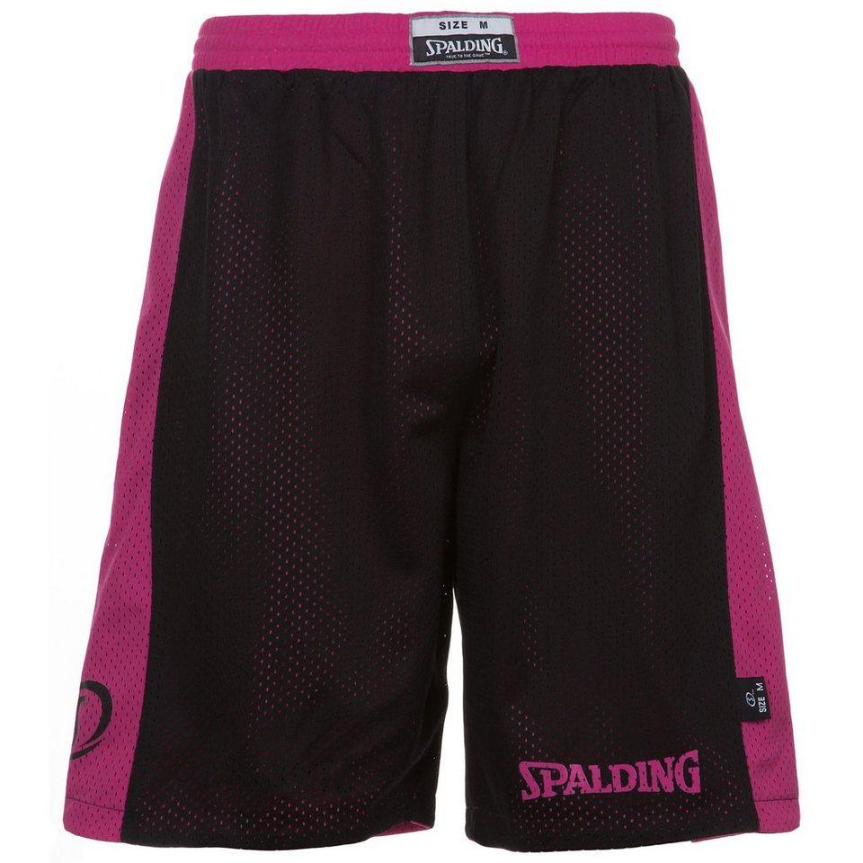 SPALDING Essential Reversible Shorts Herren in schwarz/pink