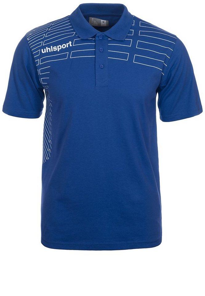 UHLSPORT Match Polo Shirt Herren in azurblau/weiß