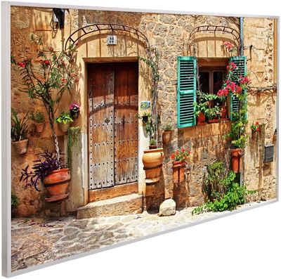 Papermoon Infrarotheizung »Charming Street, EcoHeat«, Aluminium, 600 W, 100x60 cm, mit Rahmen