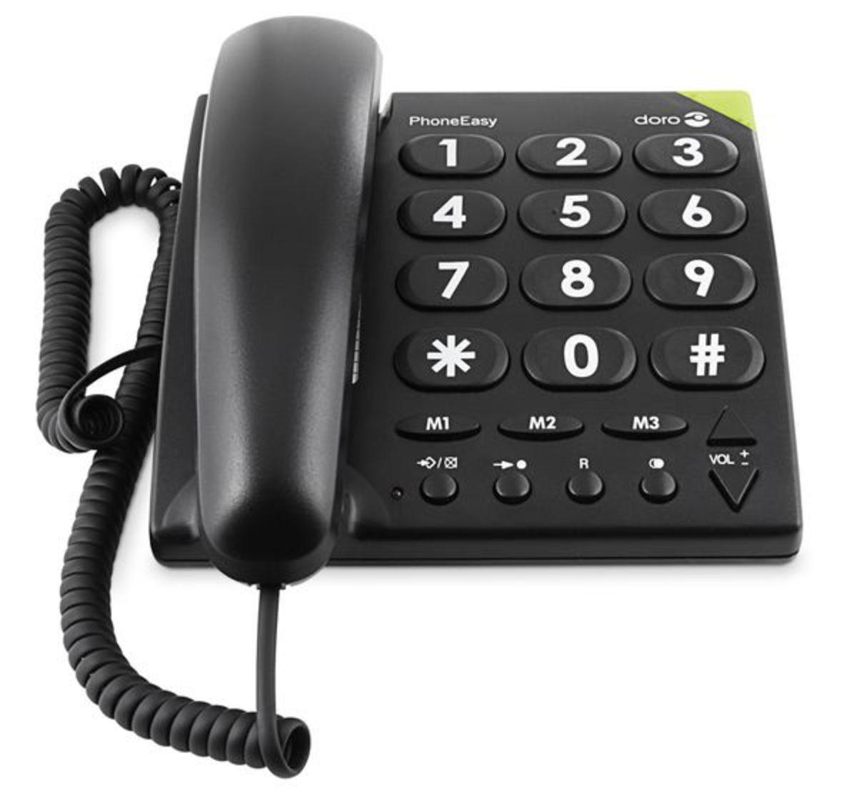 Doro Telefon analog schnurgebunden »PhoneEasy 311c, Schwarz«