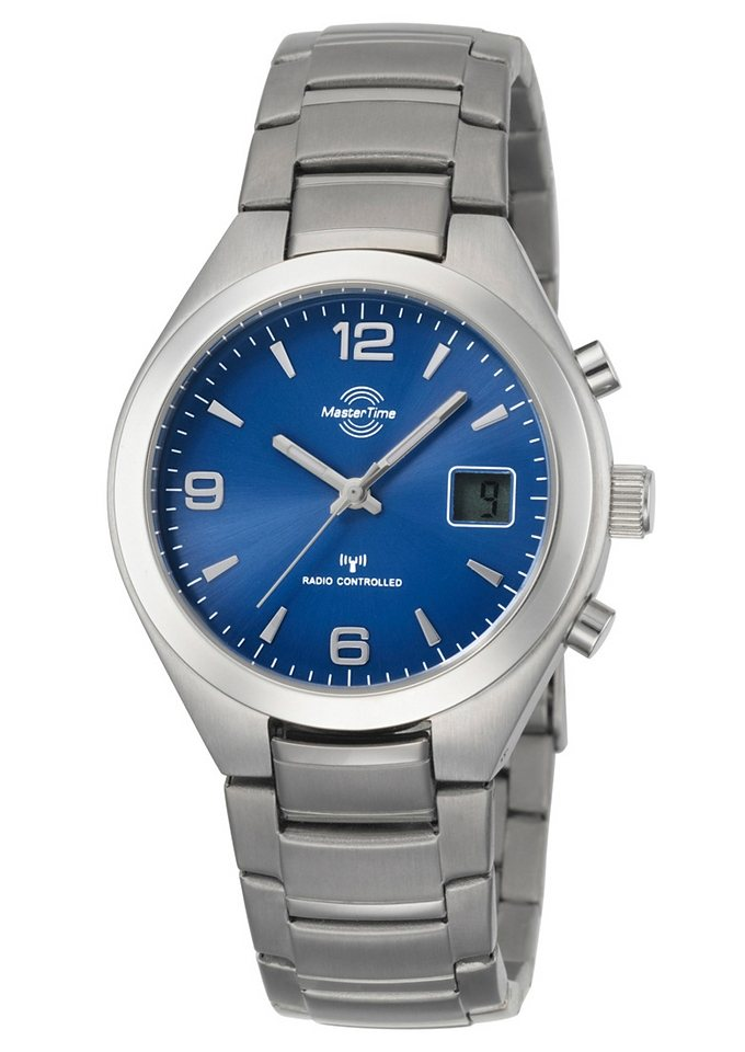 "Master Time, Funkarmbanduhr, ""MTGS-10327-32M"" in silberfarben/blau"