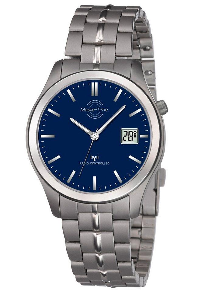 """Master Time, Funkarmbanduhr, """"MTGT-10351-31M"""" in silberfarben/blau"""