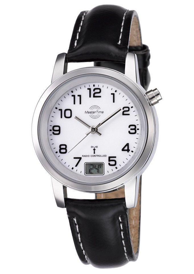 MASTER TIME Funkuhr »MTLA-10295-12L« mit Langzeitbatterie | Uhren > Funkuhren | Schwarz | MASTER TIME