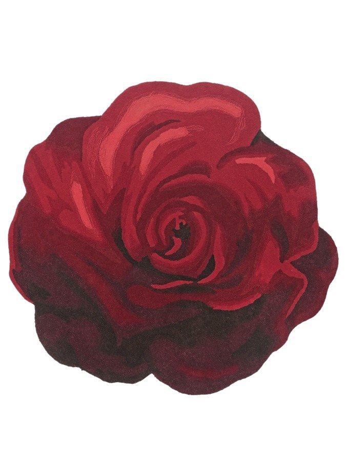 heine home Hochflor-Teppich Rose in rot