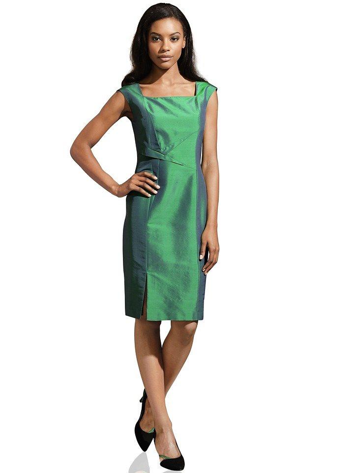 Seidenkleid in smaragd