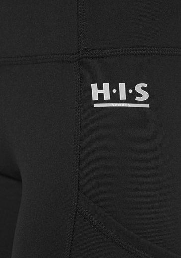 H.I.S Funktionstights, Aufgesetzte schräge Seitentaschen