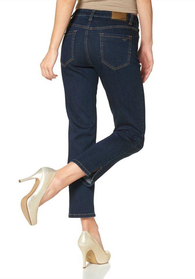 Arizona 7/8-Jeans mit komfortabler Leibhöhe in dark-blue-used